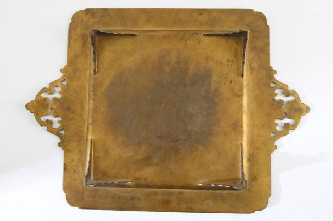 FRENCH ENAMEL FOOTED DRESSER TRAY - 3