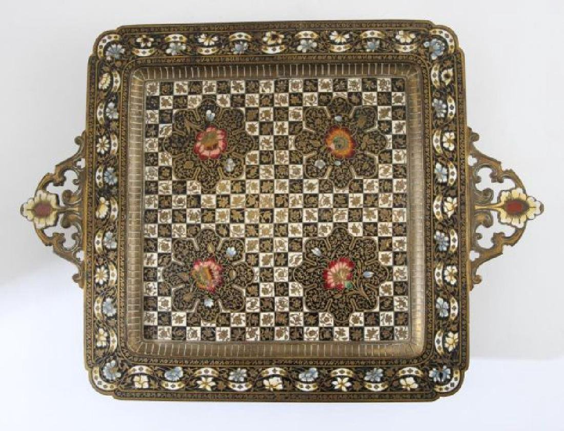 FRENCH ENAMEL FOOTED DRESSER TRAY - 5