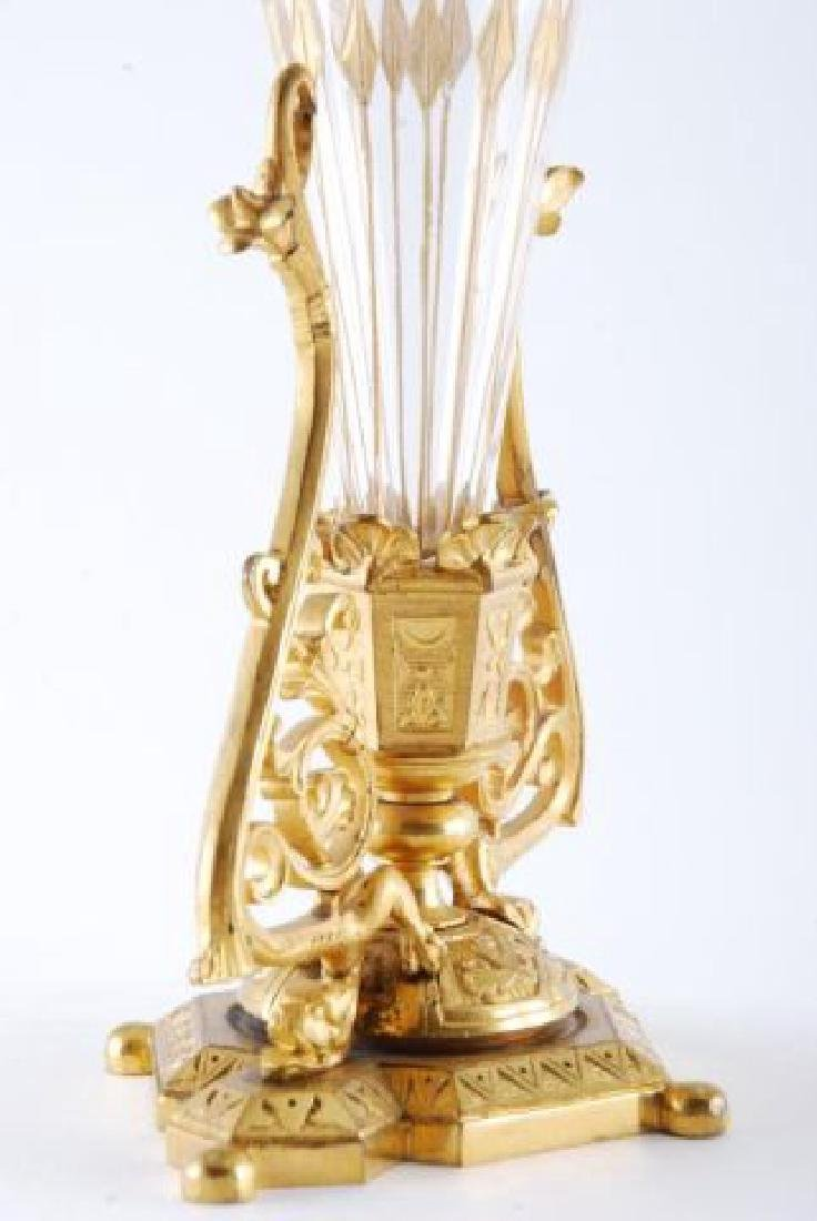 PAIR OF 19th c GILT BRONZE BUD VASES - 7