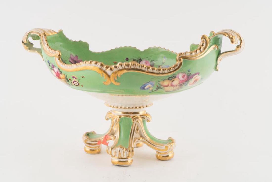PORCELAIN CENTERPIECE, TRAY and PLATE - 10