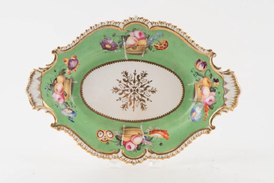 PORCELAIN CENTERPIECE, TRAY and PLATE - 2