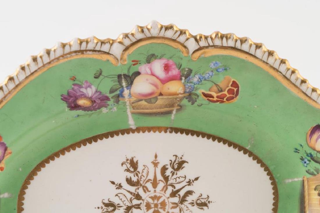 PORCELAIN CENTERPIECE, TRAY and PLATE - 3