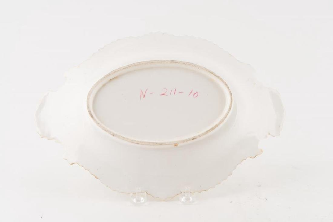 PORCELAIN CENTERPIECE, TRAY and PLATE - 4