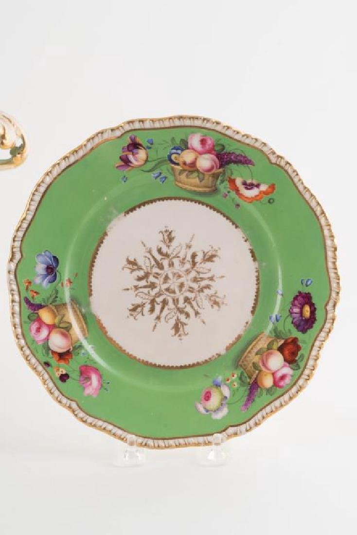 PORCELAIN CENTERPIECE, TRAY and PLATE - 6