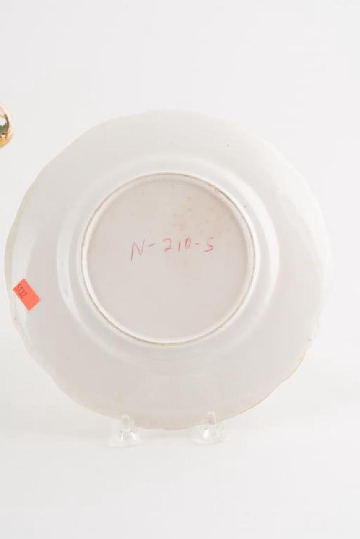 PORCELAIN CENTERPIECE, TRAY and PLATE - 7