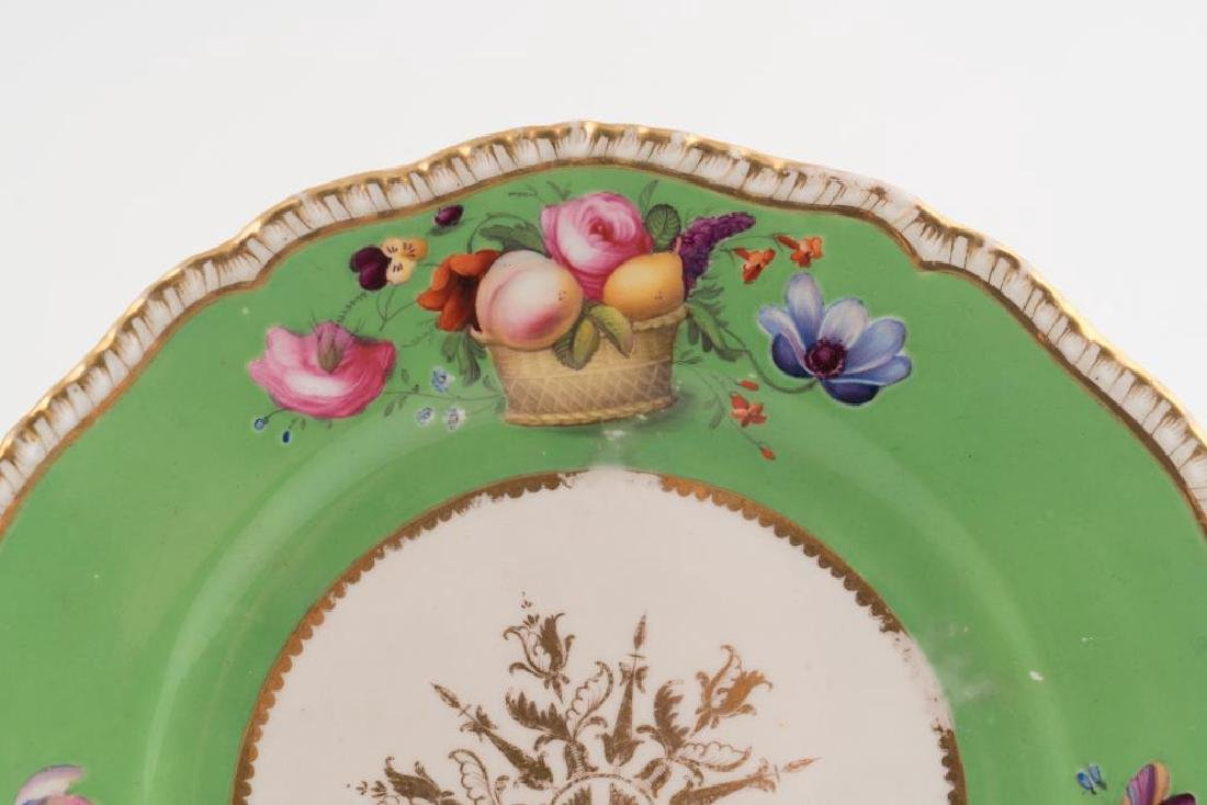 PORCELAIN CENTERPIECE, TRAY and PLATE - 8