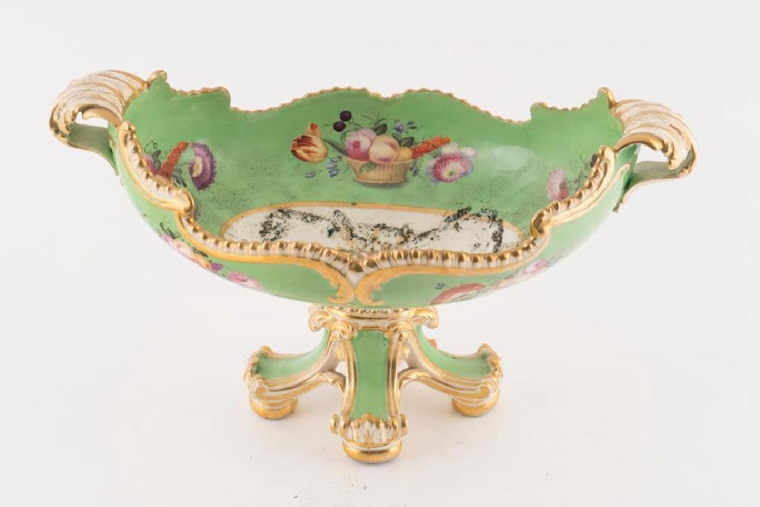 PORCELAIN CENTERPIECE, TRAY and PLATE - 9