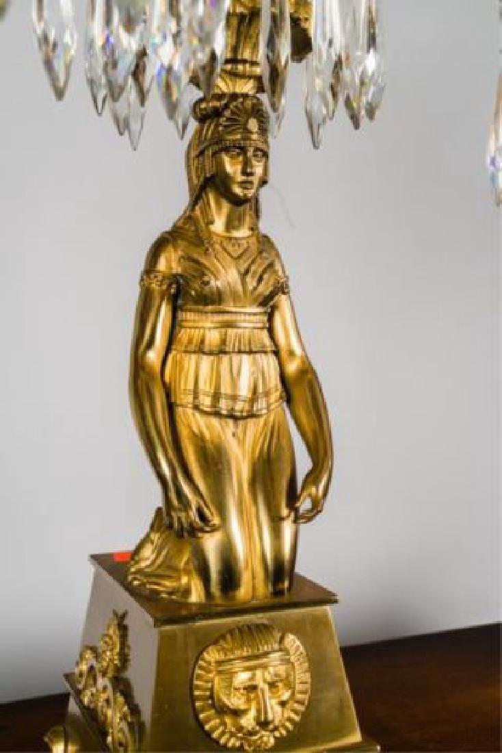 PAIR OF JOHNSTON & BROOKS EGYPTIAN REVIVAL LAMPS - 10