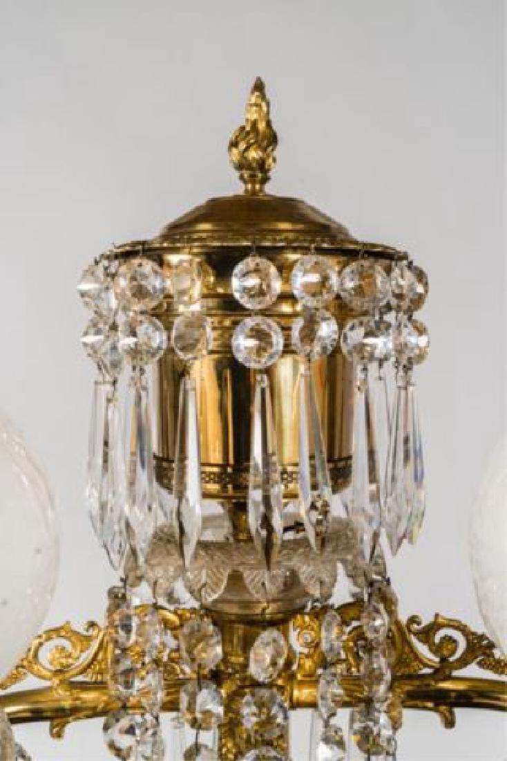 PAIR OF JOHNSTON & BROOKS EGYPTIAN REVIVAL LAMPS - 2