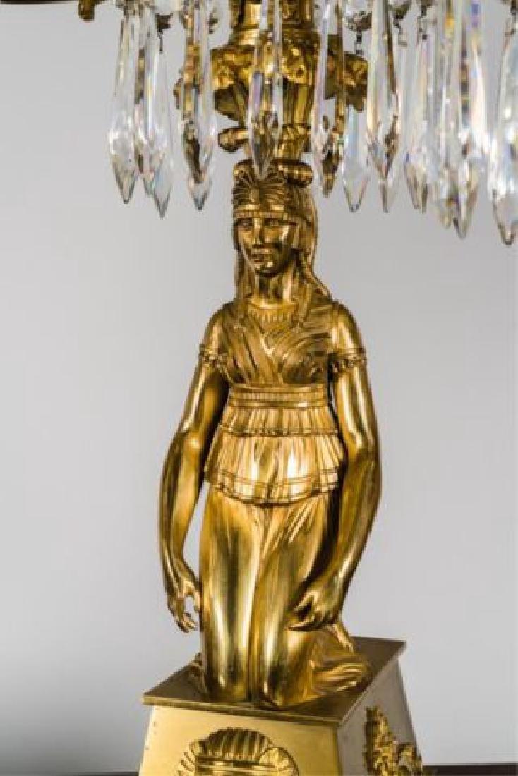 PAIR OF JOHNSTON & BROOKS EGYPTIAN REVIVAL LAMPS - 4