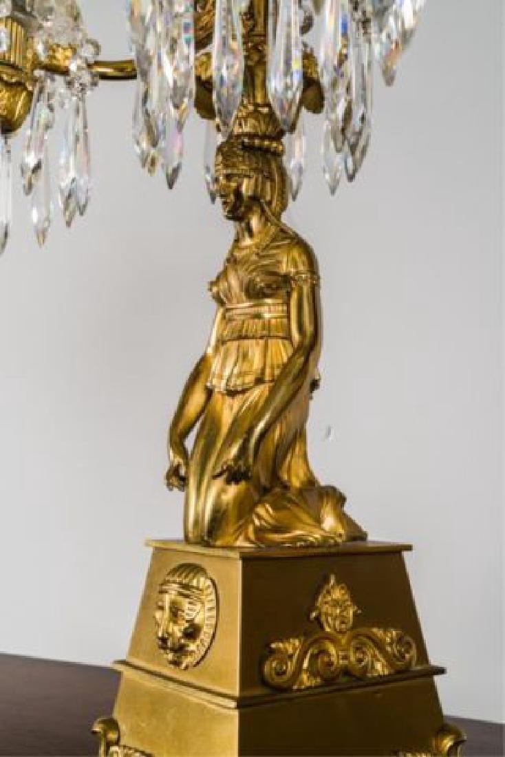PAIR OF JOHNSTON & BROOKS EGYPTIAN REVIVAL LAMPS - 5