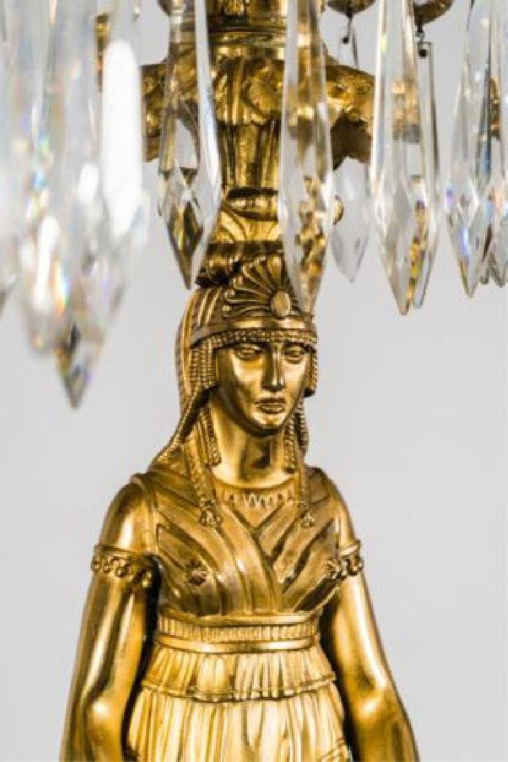 PAIR OF JOHNSTON & BROOKS EGYPTIAN REVIVAL LAMPS - 8