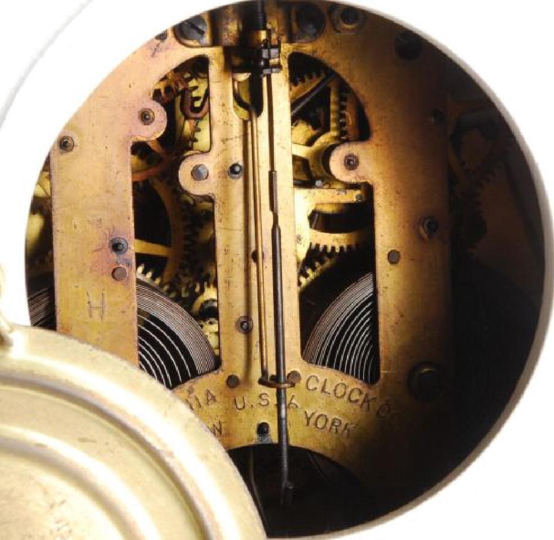 DRESDEN POCELAIN SHELF CLOCK w/ ANSONIA MOVEMENT - 3