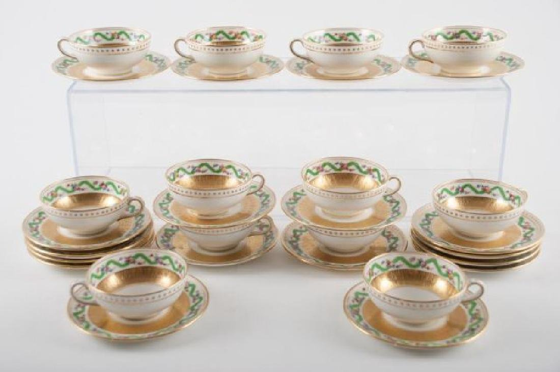 (12) TIFFANY MINTON DEMI TASSE CUPS & SAUCERS