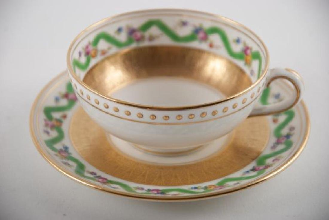 (12) TIFFANY MINTON DEMI TASSE CUPS & SAUCERS - 2