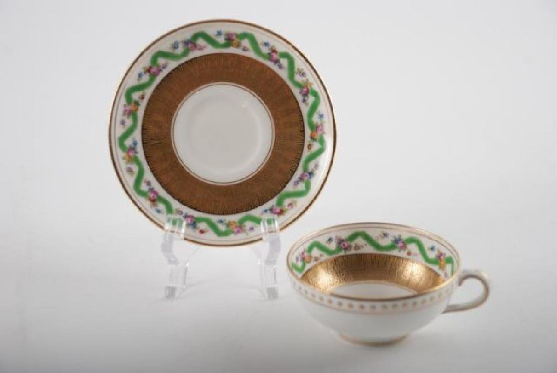 (12) TIFFANY MINTON DEMI TASSE CUPS & SAUCERS - 3