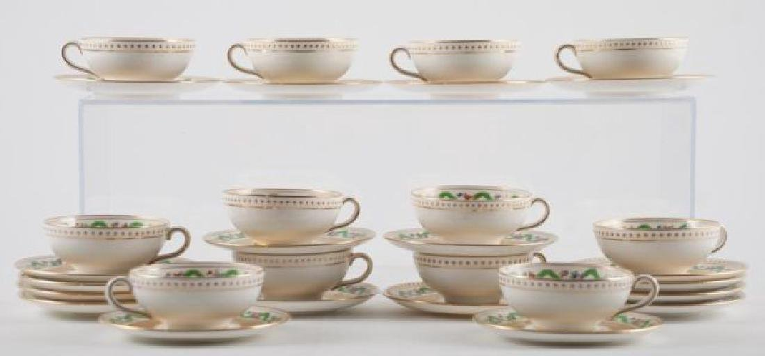 (12) TIFFANY MINTON DEMI TASSE CUPS & SAUCERS - 4