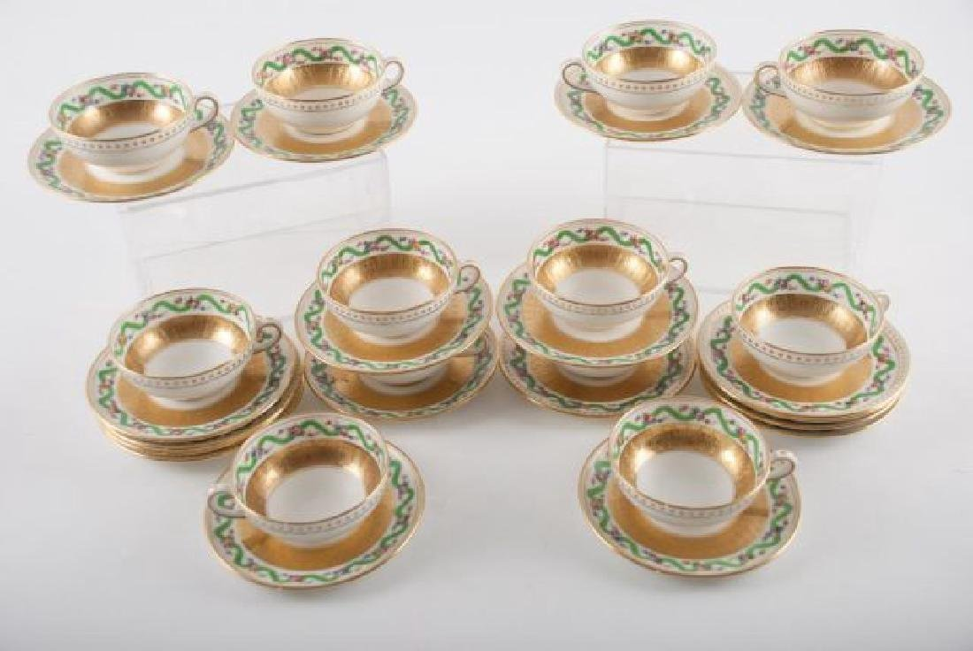 (12) TIFFANY MINTON DEMI TASSE CUPS & SAUCERS - 5