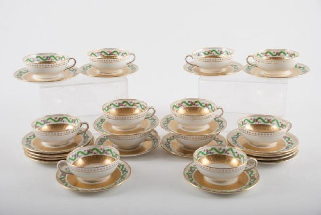 (12) TIFFANY MINTON DEMI TASSE CUPS & SAUCERS - 6