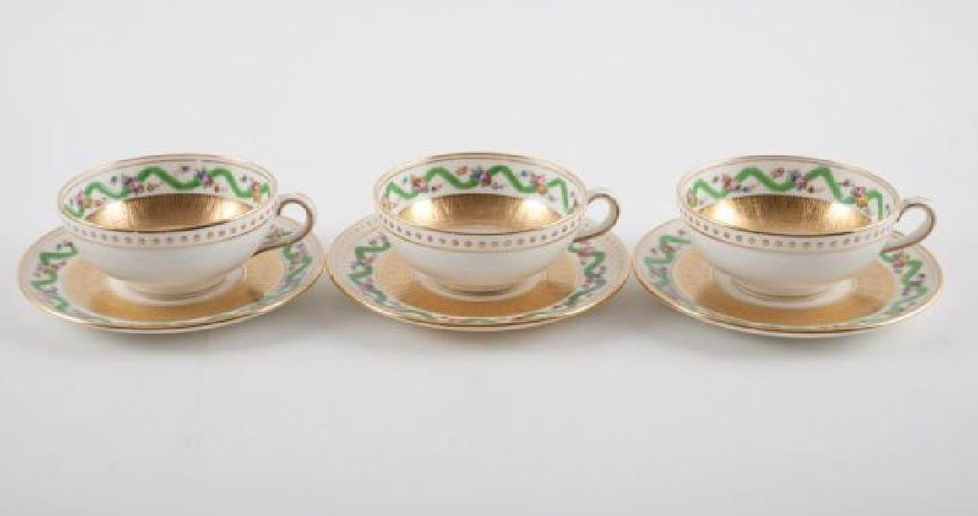 (12) TIFFANY MINTON DEMI TASSE CUPS & SAUCERS - 7