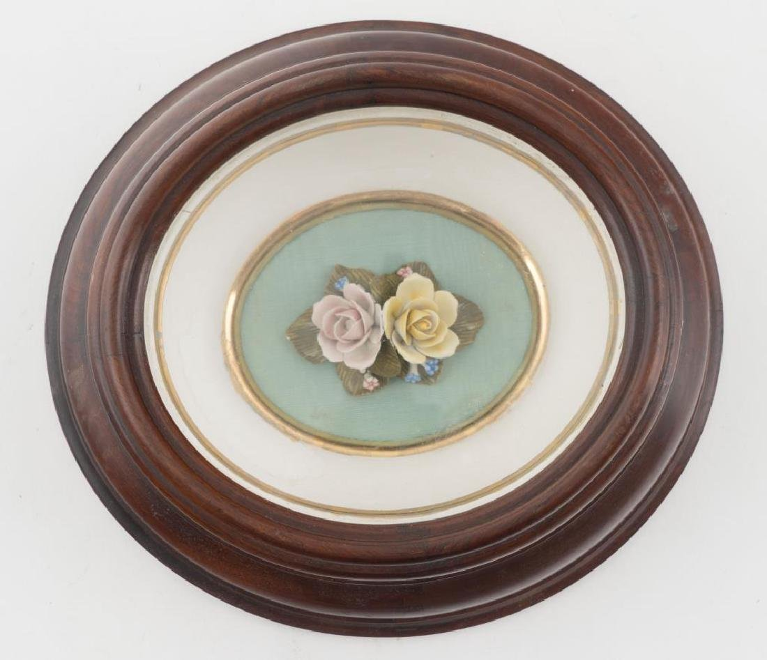CAPODIMONTE HAND PAINTED PORCELAIN FLOWERS