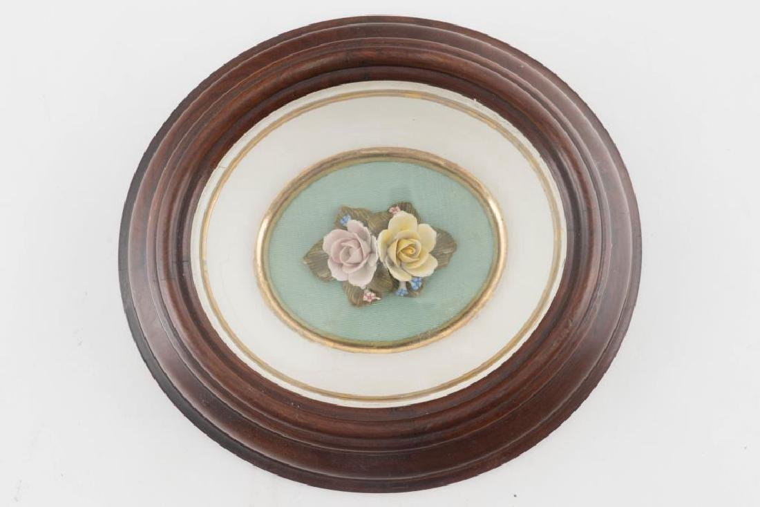 CAPODIMONTE HAND PAINTED PORCELAIN FLOWERS - 3