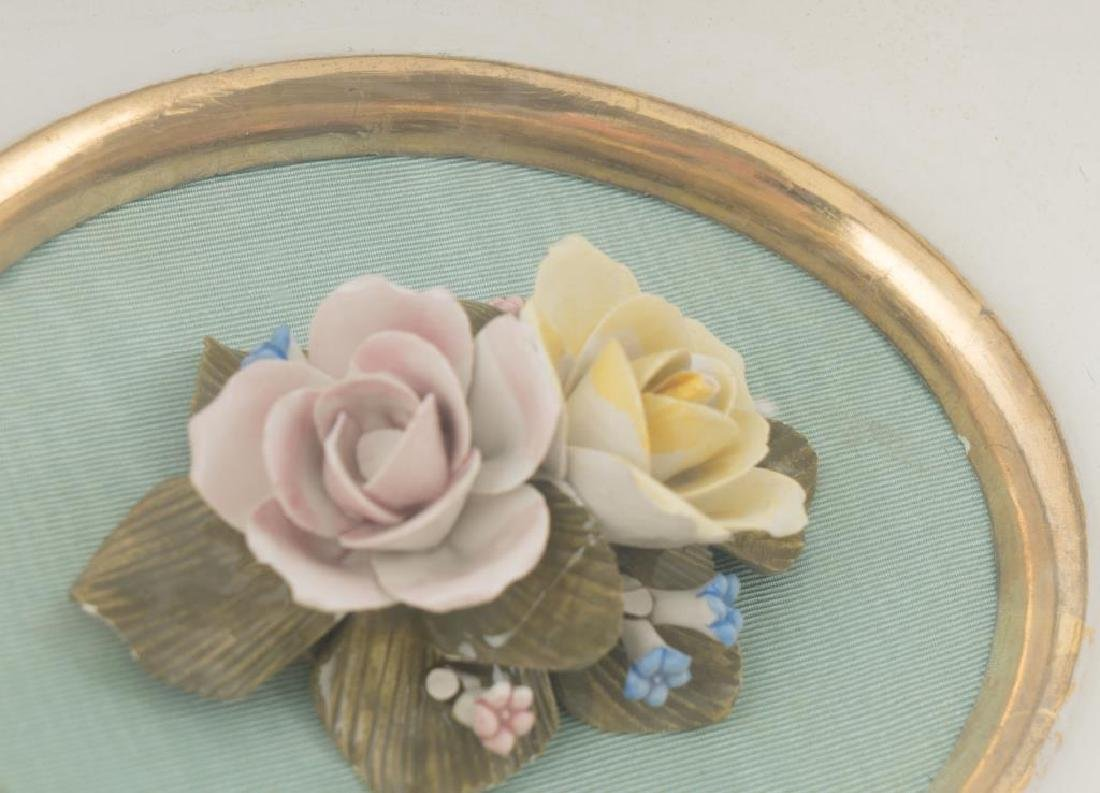CAPODIMONTE HAND PAINTED PORCELAIN FLOWERS - 4