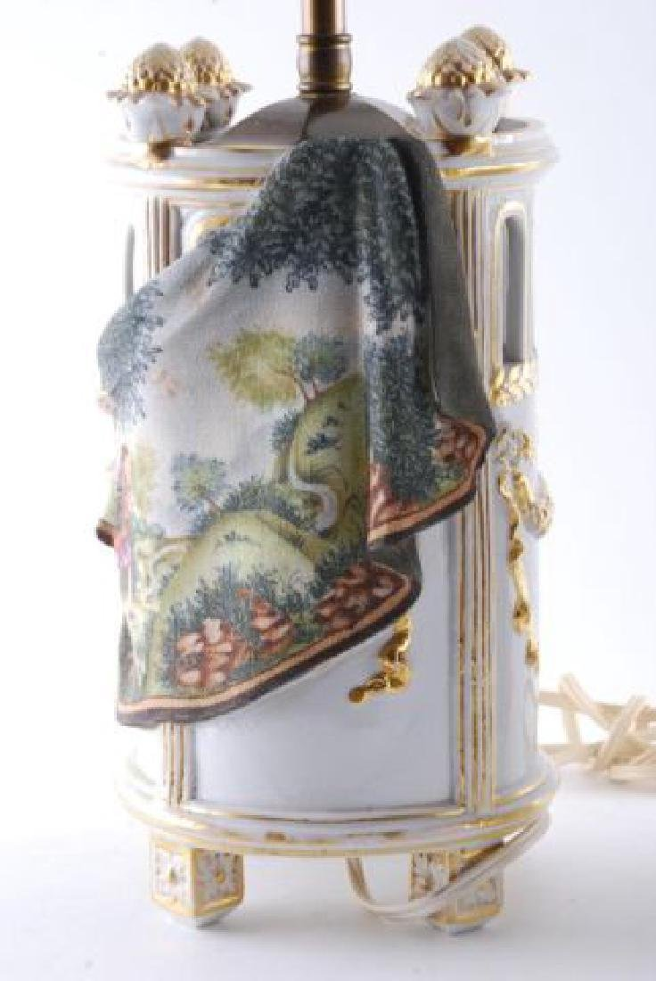 PAIR OF TAPESTRY PORCELAIN TABLE LAMPS - 7