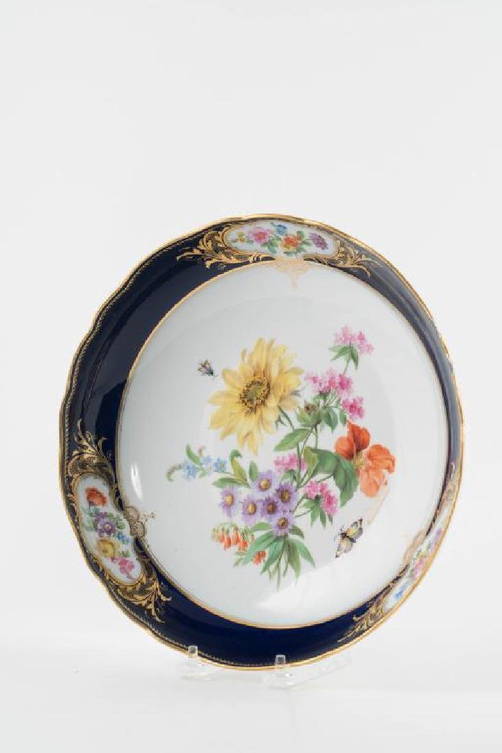 (2) MEISSEN HAND PAINTED PORCELAIN SERVING DISHES - 5