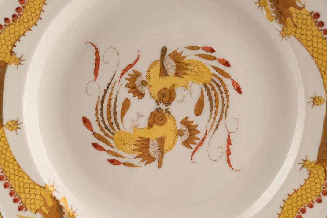 (12) MEISSEN HAND PAINTED PORCELAIN DINNER PLATES - 4