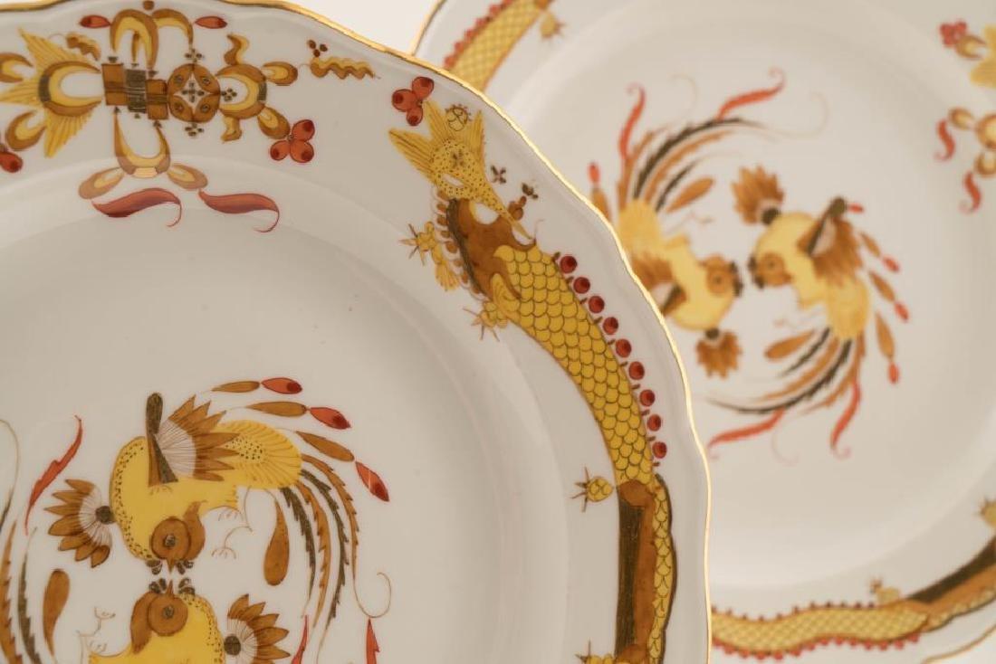 (12) MEISSEN HAND PAINTED PORCELAIN DINNER PLATES - 5