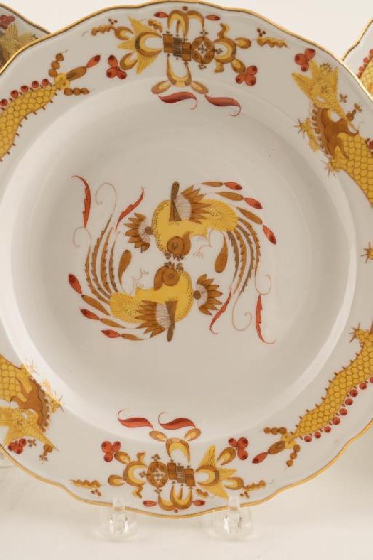 (12) MEISSEN HAND PAINTED PORCELAIN DINNER PLATES - 7