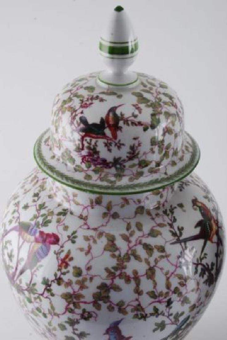 PAIR OF MIESSEN COVERED URNS - 6