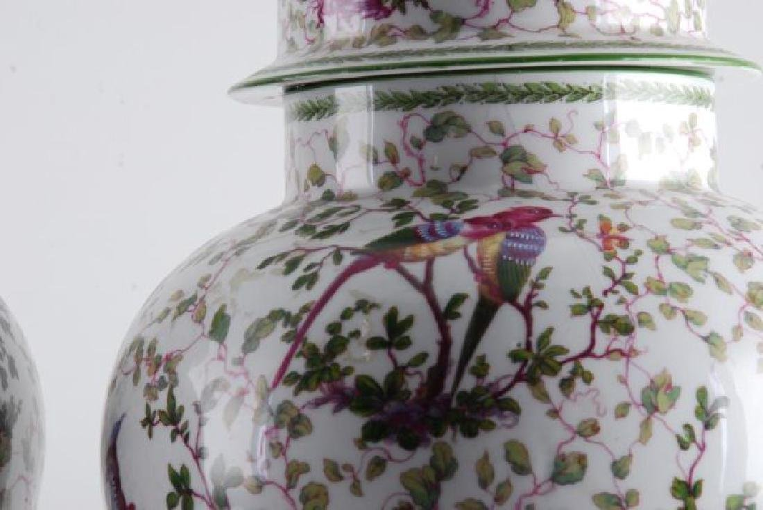 PAIR OF MIESSEN COVERED URNS - 8