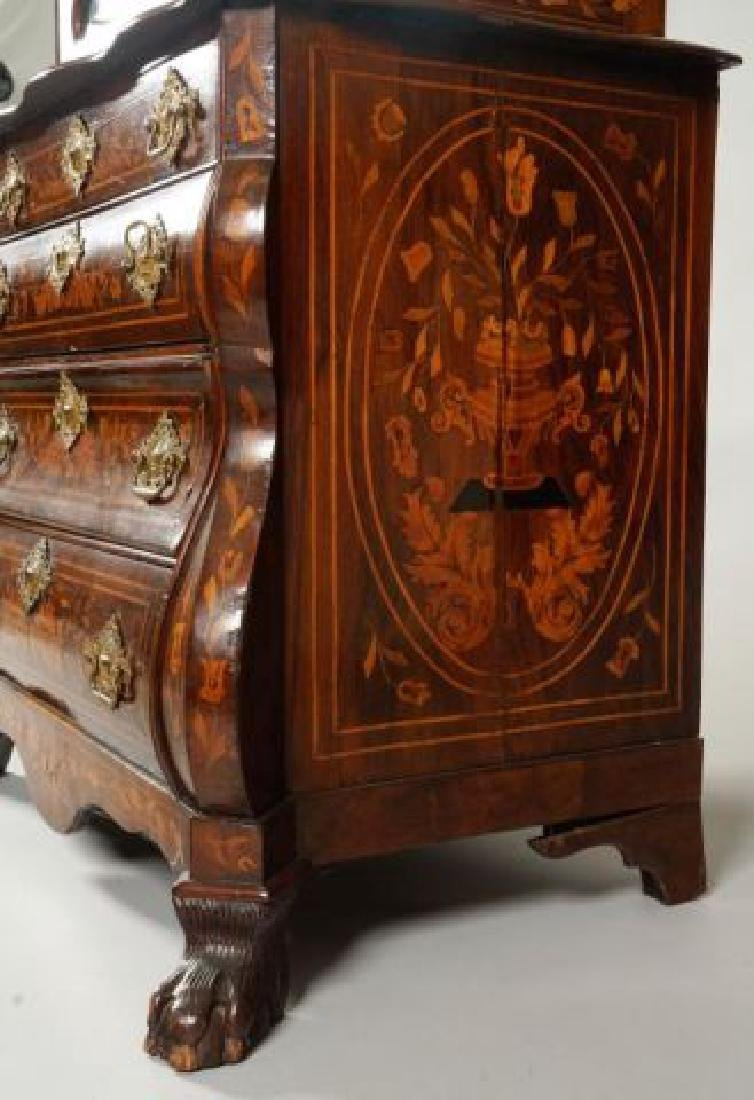 (18th/19thc) DUTCH BOMBE DISPLAY CABINET on CHEST - 10
