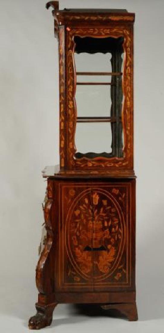 (18th/19thc) DUTCH BOMBE DISPLAY CABINET on CHEST - 5