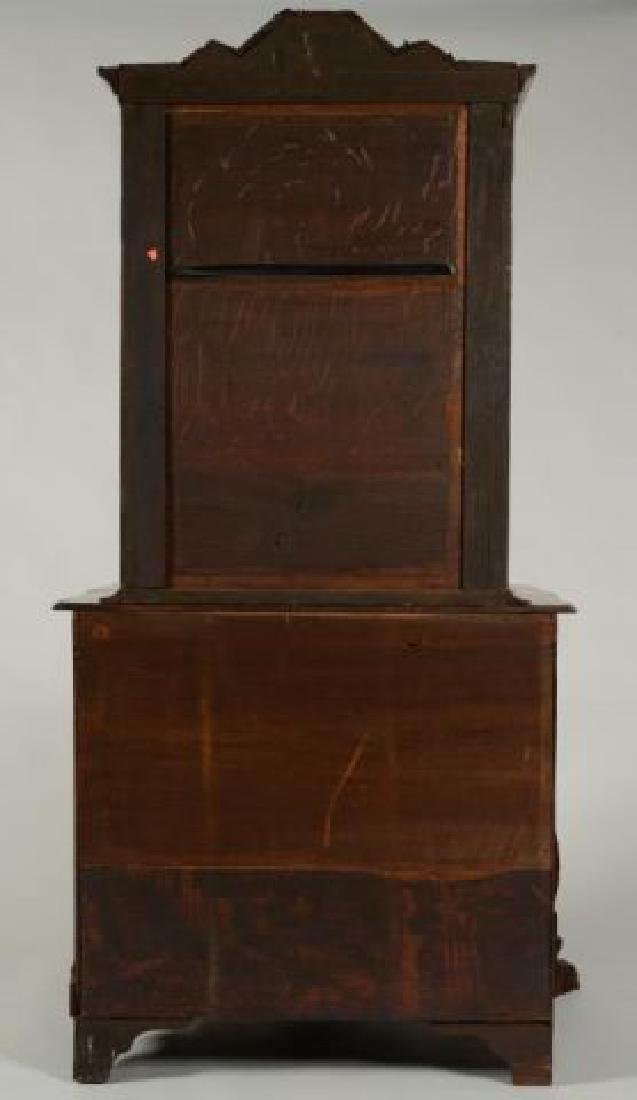 (18th/19thc) DUTCH BOMBE DISPLAY CABINET on CHEST - 6
