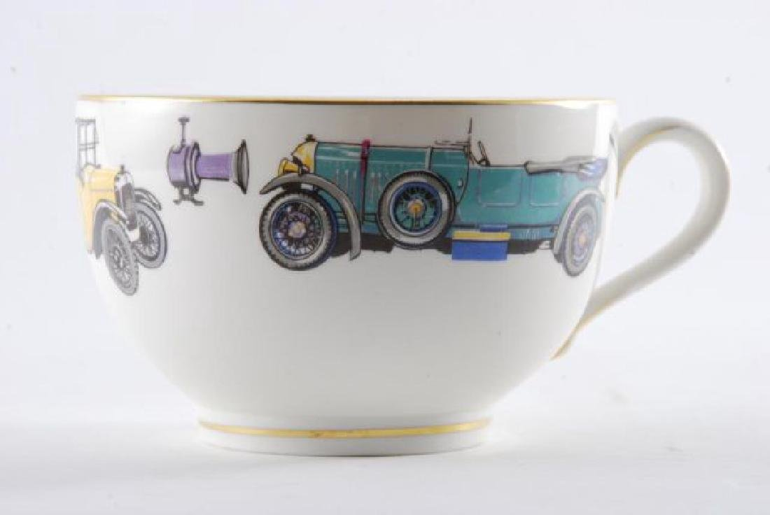 ROYAL WORCESTER OVERSIZED CLASSIC CAR CUP & SAUCER - 10