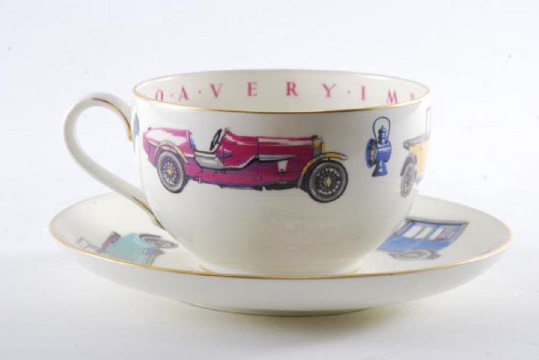ROYAL WORCESTER OVERSIZED CLASSIC CAR CUP & SAUCER