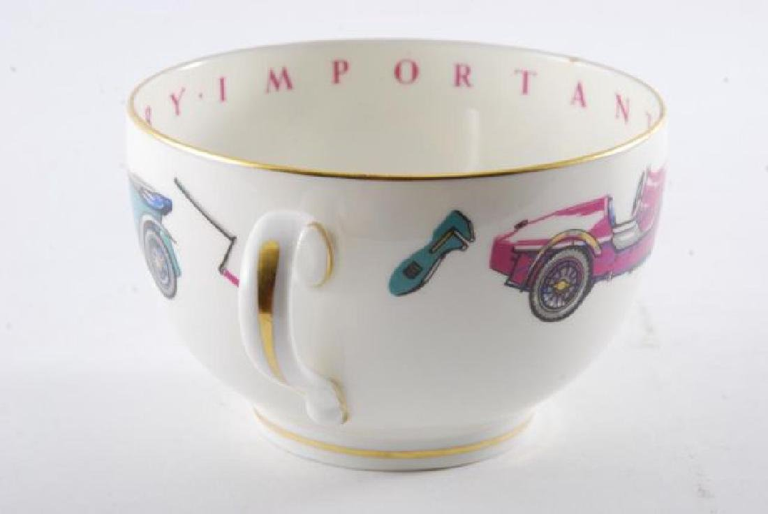 ROYAL WORCESTER OVERSIZED CLASSIC CAR CUP & SAUCER - 2