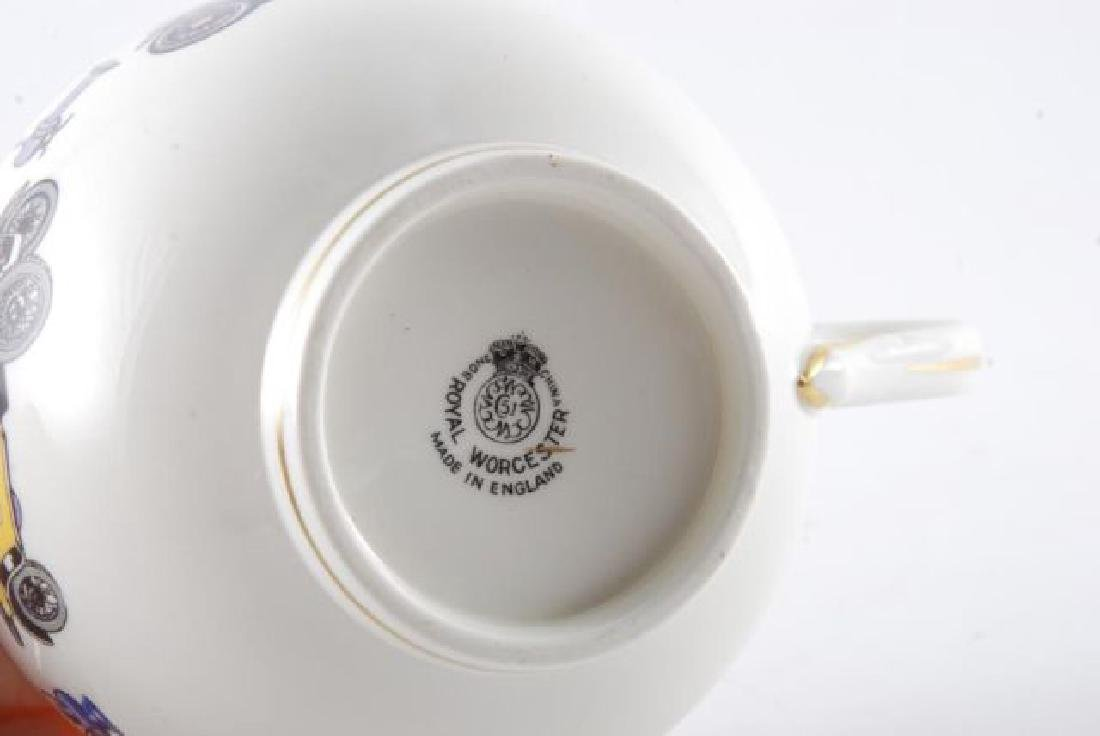 ROYAL WORCESTER OVERSIZED CLASSIC CAR CUP & SAUCER - 3