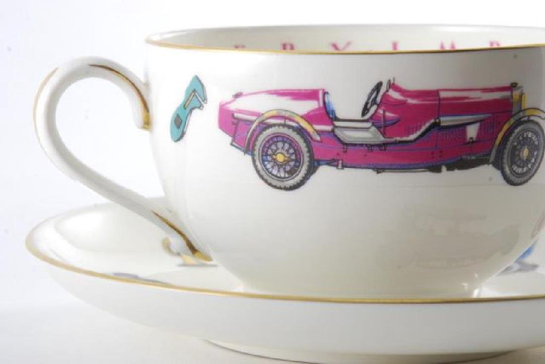 ROYAL WORCESTER OVERSIZED CLASSIC CAR CUP & SAUCER - 5