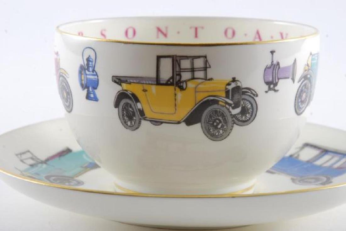 ROYAL WORCESTER OVERSIZED CLASSIC CAR CUP & SAUCER - 6