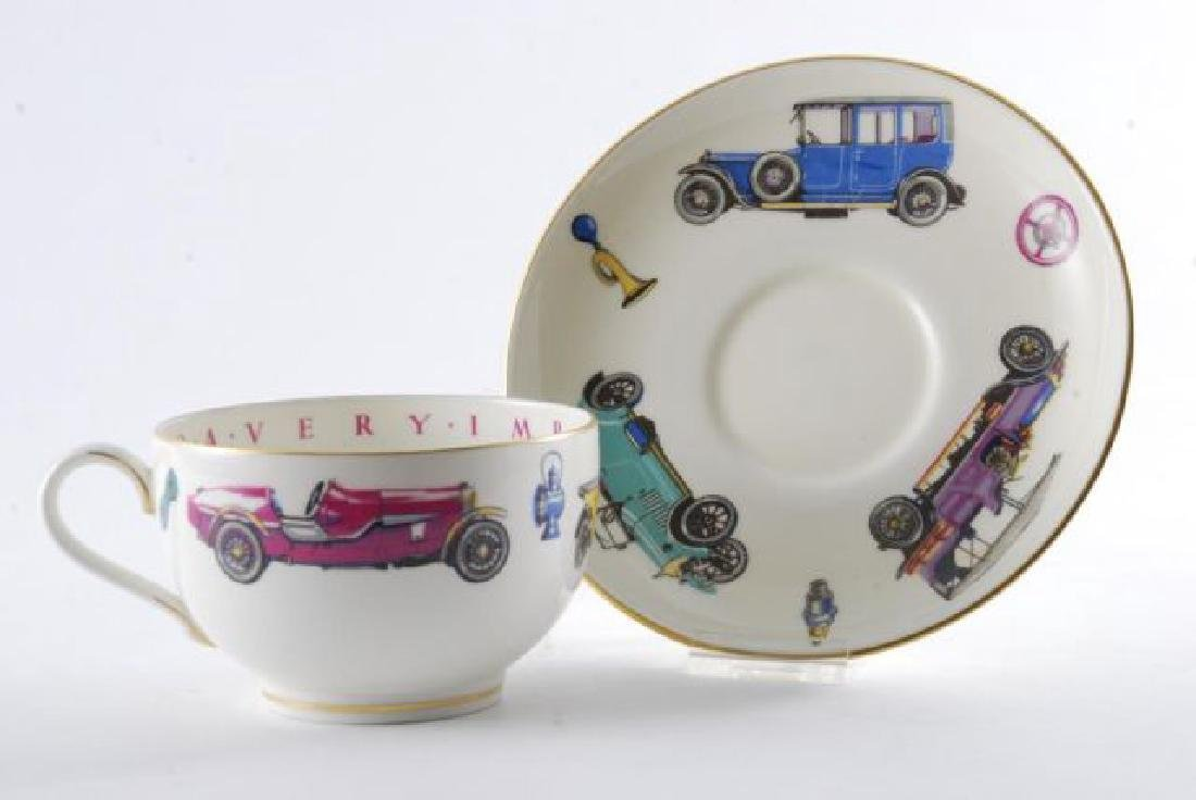 ROYAL WORCESTER OVERSIZED CLASSIC CAR CUP & SAUCER - 7