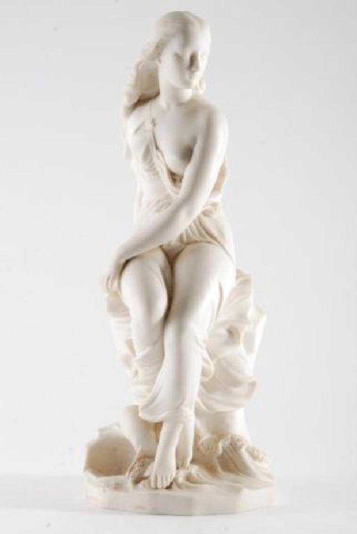 PARIAN WOMAN by the SHORE with WAVES & SHELL