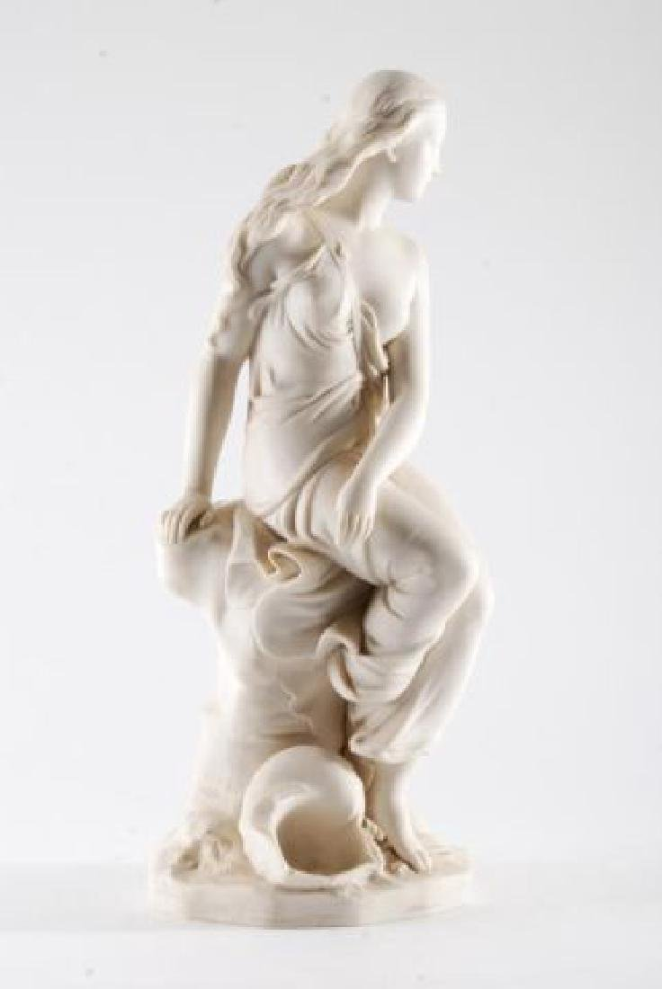 PARIAN WOMAN by the SHORE with WAVES & SHELL - 4