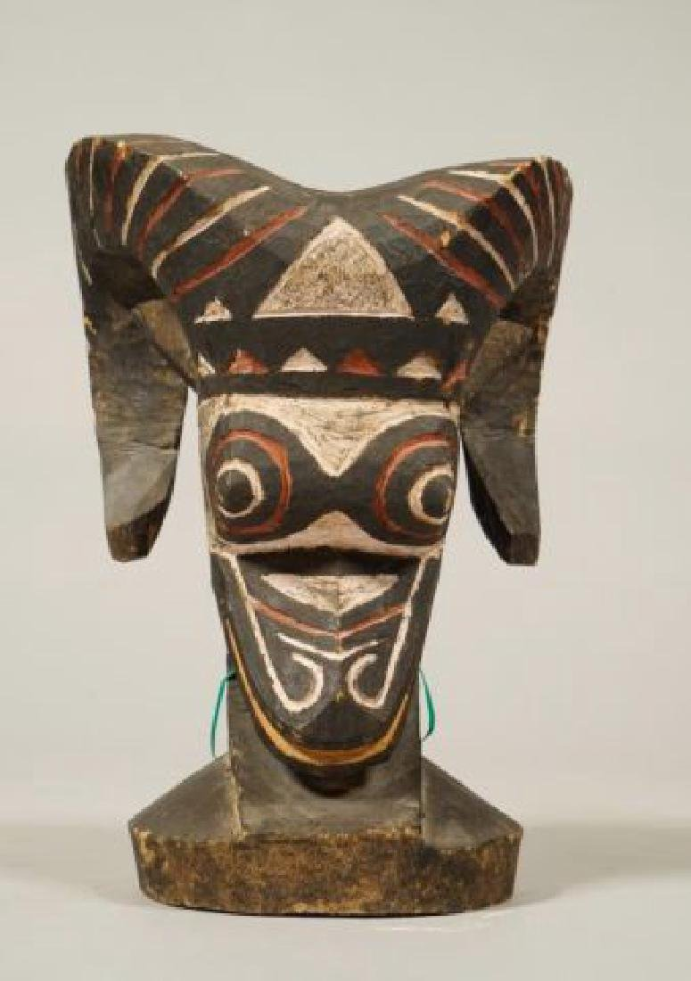 AFRICAN CARVED and PAINTED RAM AND HORNBILL - 10