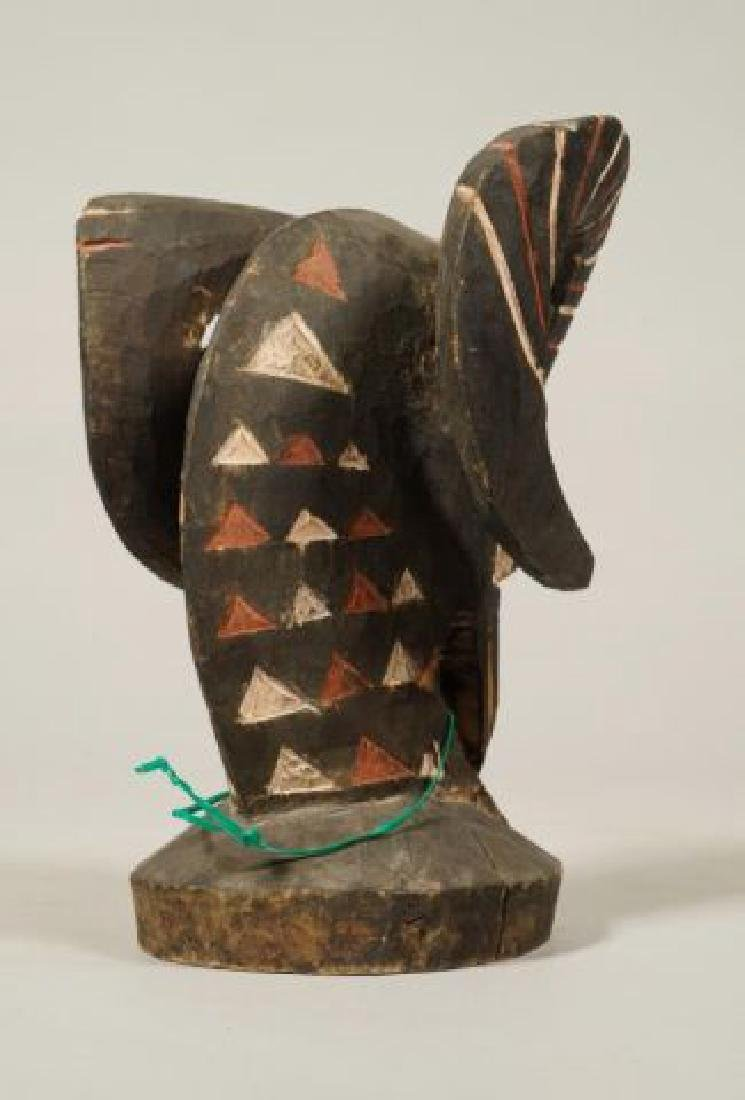 AFRICAN CARVED and PAINTED RAM AND HORNBILL - 2