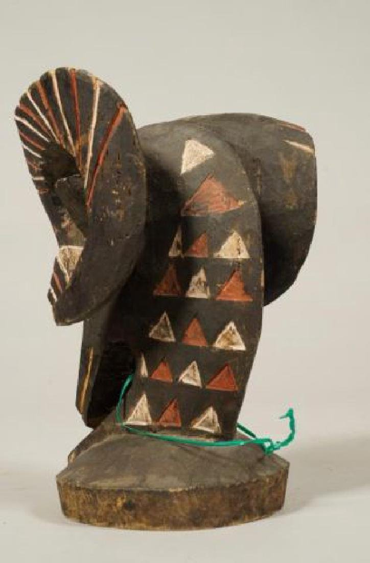 AFRICAN CARVED and PAINTED RAM AND HORNBILL - 3