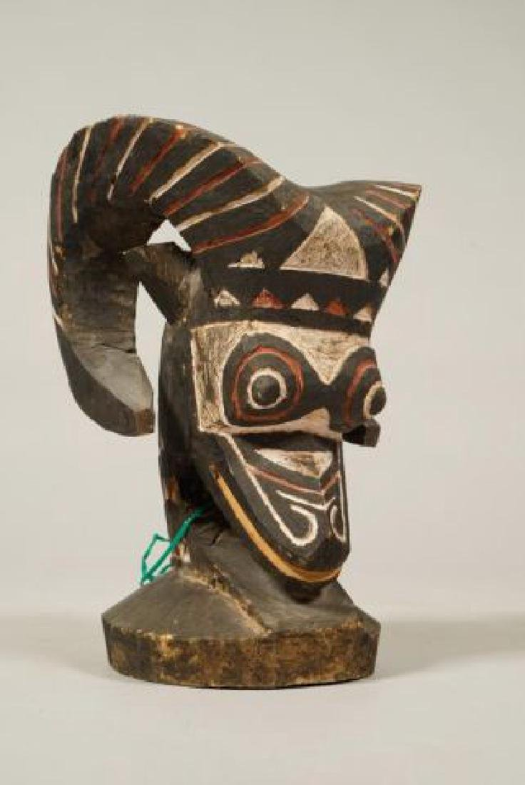 AFRICAN CARVED and PAINTED RAM AND HORNBILL - 8
